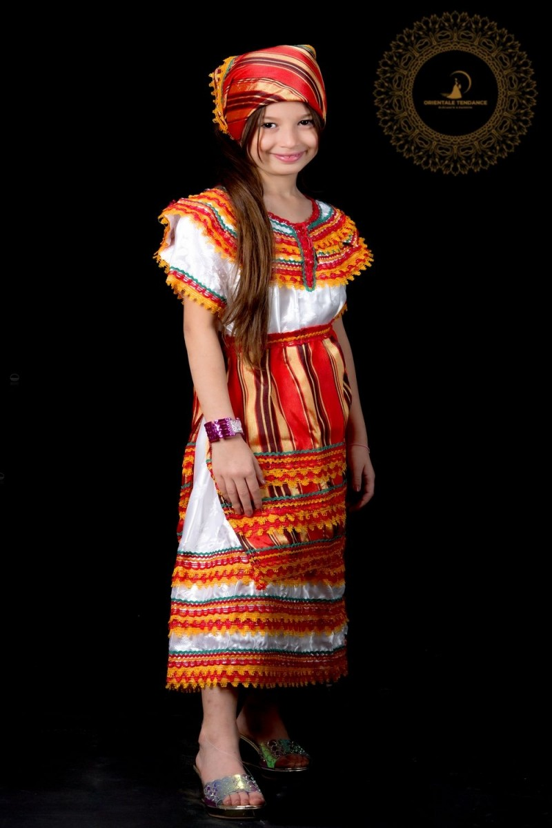 Robe kabyle traditionnelle pour fillette