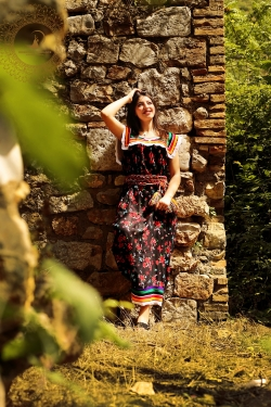 "Robe ""Kabyle"" à motifs"